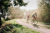 "Guillaume Van Keirsbulck (BEL/Wanty-Groupe Gobert) & Jan-Willem Van Schip (NED/Roompot-Nederlandse Loterij) leading the race<br /> <br /> Antwerp Port Epic 2018 (formerly ""Schaal Sels"")<br /> One Day Race:  Antwerp > Antwerp (207 km; of which 32km are cobbles & 30km is gravel/off-road!)"
