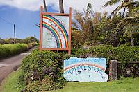 Historic Kaupo General Store signs, Kaupo, Maui