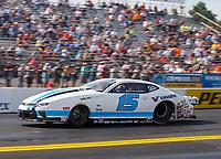 Sep 22, 2017; Mohnton, PA, USA; NHRA pro stock driver Tanner Gray during the Dodge NHRA Nationals at Maple Grove Raceway. Mandatory Credit: Mark J. Rebilas-USA TODAY Sports