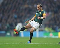 Fourie du Preez of South Africa during the Semi Final of the Rugby World Cup 2015 between South Africa and New Zealand - 24/10/2015 - Twickenham Stadium, London<br /> Mandatory Credit: Rob Munro/Stewart Communications