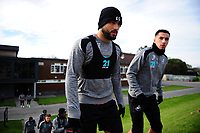 Cameron Carter-Vickers (left) and Courtney Baker-Richardson (right) of Swansea City during the Swansea City Training at The Fairwood Training Ground, in Swansea, Wales, UK. Wednesday 02 November 2018