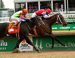 May 2, 2014: Moonshine Mullin with Calvin Borel wins the Grade 2 Alysheba Stakes, 4-year olds  up, going 1 1/16 at Churchill Downs. Trainer: Randy L. Morse. Owner: Randy Patterson. Sue Kawczynski/ESW/CSM