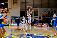 SANTA CRUZ, CA - JANUARY 22: Haley Jones #30 shoots a free throw during a game between UCLA and Stanford University at Kaiser Arena on January 22, 2021 in Santa Cruz, California.