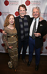 """Eve Wolf, John Noble and Donald T. Sanders attends the Opening Night Celebration for Ensemble for the Romantic Century Off-Broadway Premiere of<br />""""Maestro"""" at the West Bank Cafe on January 15, 2019 in New York City."""