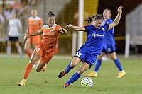 Houston, TX - Sunday Sept. 25, 2016: Carli Lloyd, Kendall Fletcher during a regular season National Women's Soccer League (NWSL) match between the Houston Dash and the Seattle Reign FC at BBVA Compass Stadium.