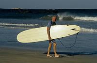 Costa Rica - file Photo -Tamarindo ,older surfer (NO MODEL RELEASE)