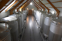Fermentation tanks. Domaine Pascal Jolivet, Sancerre, Loire, France