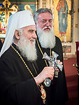 Vespers and the greeting of Patriarch Irinej at Holy Resurrection Serbian Orthodox Church, Chicago.<br /> <br /> Patriarch Irinej and Bishop Longin