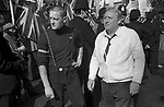 National Front march and rally south London 1978. Derek Day  from Shoreditch and possibly his son.
