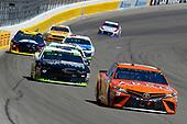 #19: Daniel Suarez, Joe Gibbs Racing, Toyota Camry ARRIS and #42: Kyle Larson, Chip Ganassi Racing, Chevrolet Camaro DC Solar Vegas Strong