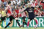 Athletic de Bilbao's Javi Eraso (l) and FC Barcelona's Leo Messi during La Liga match. August 28,2016. (ALTERPHOTOS/Acero)