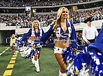 Dallas Cowboys cheerleaders in action during the Thanksgiving Day game between the Miami Dolphins and the Dallas Cowboys at the Cowboys Stadium in Arlington, Texas. Dallas defeats Miami 20 to 19..