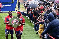 Joie des joueurs du LOSC brandissant le trophee Hexagoal du vainqueur du championnat de France de Ligue 1 saison 2020 / 2021<br /> Jonathan Bamba (Losc) <br /> Jonathan Ikone (Losc) <br /> 24/05/2021<br /> Celebration of LOSC Lille champions of France <br /> Calcio Ligue 1 2020/2021<br /> Foto JB Autissier/Panoramic/insidefoto <br /> ITALY ONLY