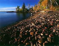 Lake Superior shoreline, North Shore, Tettegouche State Park, MN. Tettegouche State Park, Minnesota.