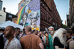 © Joel Goodman - 07973 332324 - all rights reserved . 25/08/2019. Manchester, UK. Revellers in Manchester's Gay Village during the city's annual Gay Pride festival , which celebrates LGBTQ+ life and is the largest of its type in Europe . Photo credit : Joel Goodman