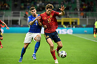 Marcos Alonso of Spain and Giovanni Di Lorenzo of Italy during the Uefa Nations League semi-final football match between Italy and Spain at San Siro stadium in Milano (Italy), October 6th, 2021. Photo Andrea Staccioli / Insidefoto