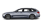 Car driver side profile view of a 2018 BMW 5 Series Touring Sport 5 Door Wagon