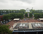 Rain delay at the US Open being played at USTA Billie Jean King National Tennis Center in Flushing, NY on September 2, 2013