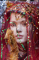 Nepal, Kathmandu.  Veiled Mannequin, Showing Signs of Wear and Tear.