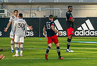WASHINGTON, DC - NOVEMBER 8: Donovan Pines #23 of D.C. United celebrates a goal during a game between Montreal Impact and D.C. United at Audi Field on November 8, 2020 in Washington, DC.