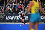 NZ's Tarryn Davey in action during the Sentinel Homes Trans Tasman Series hockey match between the New Zealand Black Sticks Women and the Australian Hockeyroos at Massey University Hockey Turf in Palmerston North, New Zealand on Sunday, 30 May 2021. Photo: Dave Lintott / lintottphoto.co.nz