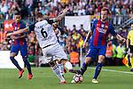 Deportivo de La Coru?a's Raul Albentosa and FC Barcelona's Ivan Rakitic during the La Liga match between Futbol Club Barcelona and Deportivo de la Coruna at Camp Nou Stadium Spain. October 15, 2016. (ALTERPHOTOS/Rodrigo Jimenez)