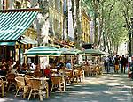 France, Provence, Aix-en-Provence: Cours Mirabeau | Frankreich, Provence, Aix-en-Provence: Cafes auf dem Cours Mirabeau