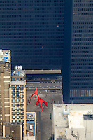 Usa, illinois,chicago, Flamingo as viewed from the Willis Tower skydeck
