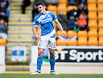 St Johnstone v Partick Thistle…29.10.16..  McDiarmid Park   SPFL<br />Michael Coulson reacts to his miss<br />Picture by Graeme Hart.<br />Copyright Perthshire Picture Agency<br />Tel: 01738 623350  Mobile: 07990 594431