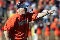 Virginia head coach Al Groh disputes a call during the 17-16 win over Wake Forest.