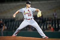 Glendale Desert Dogs pitcher Rowan Wick (99), of the St. Louis Cardinals organization, during a game against the Scottsdale Scorpions on October 14, 2016 at Scottsdale Stadium in Scottsdale, Arizona.  Scottsdale defeated Glendale 8-7.  (Mike Janes/Four Seam Images)