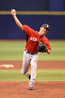 Boston Red Sox pitcher Jake Cosart (52) during an Instructional League game against the Tampa Bay Rays on September 25, 2014 at Tropicana Field in St. Petersburg, Florida.  (Mike Janes/Four Seam Images)