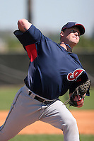 Cleveland Indians minor leaguer Scott Roehl during Spring Training at the Chain of Lakes Complex on March 17, 2007 in Winter Haven, Florida.  (Mike Janes/Four Seam Images)