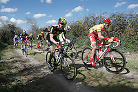 attacking gravel sector 3 of the day<br /> <br /> 33th Tro Bro Léon 2016
