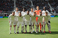 WASHINGTON, DC - FEBRUARY 29: Washington, D.C. - February 29, 2020: Colorado Rapids Starting Eleven. The Colorado Rapids defeated D.C. Untied 2-1 during their Major League Soccer (MLS)  match at Audi Field during a game between Colorado Rapids and D.C. United at Audi Field on February 29, 2020 in Washington, DC.