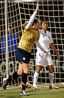 Cat Whitehill celebrates after scoring..USA 4, Mexico 0.PGE Park, Portland OR, October 17, 2007.