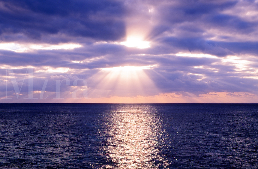 Sunrise over the ocean.