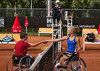 10-08-13, Netherlands, Rotterdam,  TV Victoria, Tennis, NJK 2013, National Junior Tennis Championships 2013,  Dide de Groot defeats Sam Schroder(L)<br /> <br /> Photo: Henk Koster