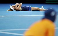 MELBOURNE,AUSTRALIA,27.JAN.18 - TENNIS - WTA World Tour, Grand Slam, Australian Open. Image shows the rejoicing of Caroline Wozniacki (DEN). Photo: GEPA pictures/ Matthias Hauer / Copyright : explorer-media