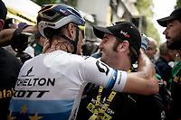 European Champion Matteo Trentin (ITA/Mitchelton-Scott) wins stage 17, the 4th stage win by his Mitchelton-Scott team<br /> <br /> Stage 17: Pont du Gard to Gap(206km)<br /> 106th Tour de France 2019 (2.UWT)<br /> <br /> ©kramon