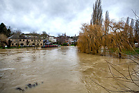 The River Nene at Thrapston, Northamptonshire, England, UK, bursts its banks after heavy rain fall caused by Storm Bella. Boxing Day December 26th 2020<br /> CAP/SH/PP<br /> ©SH/PP/Capital Pictures