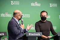 SÃO PAULO, SP, 31.05.2021 - COVID-19-SP - João Doria, Governador de São Paulo, Dimas Covas, apresenta informações sobre o combate ao coronavírus (COVID-19) em São Paulo, no Instituto Butantan, nesta segunda-feira, 31. (Foto André Ribeiro/Brazil Photo Press)