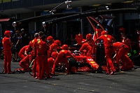 16 LECLERC Charles (mco), Scuderia Ferrari SF21, action during the Formula 1 Azerbaijan Grand Prix 2021 from June 04 to 06, 2021 on the Baku City Circuit, in Baku, Azerbaijan <br /> FORMULA 1 : Grand Prix Azerbaijan <br /> 05/06/2021 <br /> Photo DPPI/Panoramic/Insidefoto <br /> ITALY ONLY