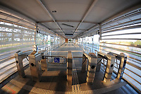 Rio de Janeiro (RJ), 30/04/2020 - Covid-19-Rio - Para prevencao ao coronavirus (Covid-19),a estacao de onibus (BRT) do transporte publico,Olof Palme,na Barra da Tijuca na zona oeste do Rio de Janeiro, permanece fechada devido a pouca demanda de passageiros,nesta quinta-feira (30) (Foto: Alexandre Durao/Codigo 19/Codigo 19)