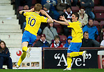 Hearts v St Johnstone...03.12.11   SPL .Liam Craig celebrates his goal with Chris Millar.Picture by Graeme Hart..Copyright Perthshire Picture Agency.Tel: 01738 623350  Mobile: 07990 594431
