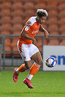 Blackpool's Jordan Lawrence-Gabriel<br /> <br /> Photographer Dave Howarth/CameraSport<br /> <br /> EFL Trophy - Northern Section - Group G - Blackpool v Leeds United U21 - Wednesday 11th November 2020 - Bloomfield Road - Blackpool<br />  <br /> World Copyright © 2020 CameraSport. All rights reserved. 43 Linden Ave. Countesthorpe. Leicester. England. LE8 5PG - Tel: +44 (0) 116 277 4147 - admin@camerasport.com - www.camerasport.com
