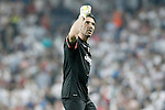 Juventus' Gianluigi Buffon celebrates the victory in the Champions League 2014/2015 Semi-finals.May 13,2015. (ALTERPHOTOS/Acero)