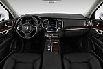 Stock photo of straight dashboard view of a 2019 Volvo XC90 T5 Momentum AWD 5 Door SUV