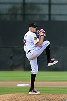 Wisconsin Timber Rattlers pitcher Nick Bennett (32) delivers a pitch during a game against the West Michigan Whitecaps on May 22, 2021 at Neuroscience Group Field at Fox Cities Stadium in Grand Chute, Wisconsin.  (Brad Krause/Four Seam Images)