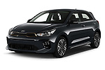 2021 KIA Rio GT-Line 5 Door Hatchback Angular Front automotive stock photos of front three quarter view